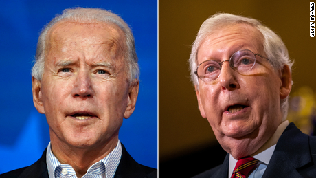 McConnell for the first time recognizes Biden as President-elect