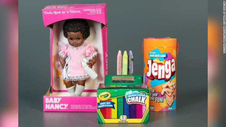 Sidewalk chalk and Jenga have been inducted into the National Toy Hall of Fame