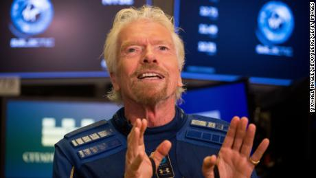 Virgin Galactic's Richard Branson wants to be the first 'space billionaire' to actually travel to space
