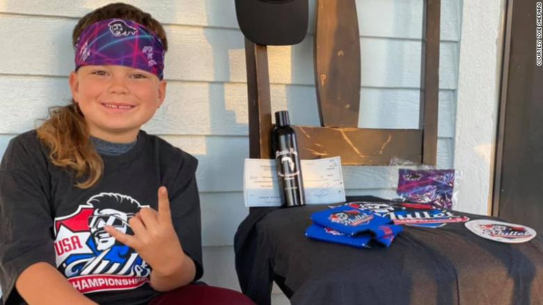 Texas boy wins first place in national mullet championship
