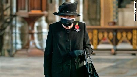 Queen Elizabeth II marks the centenary of the burial of the Unknown Warrior in London on November 4.