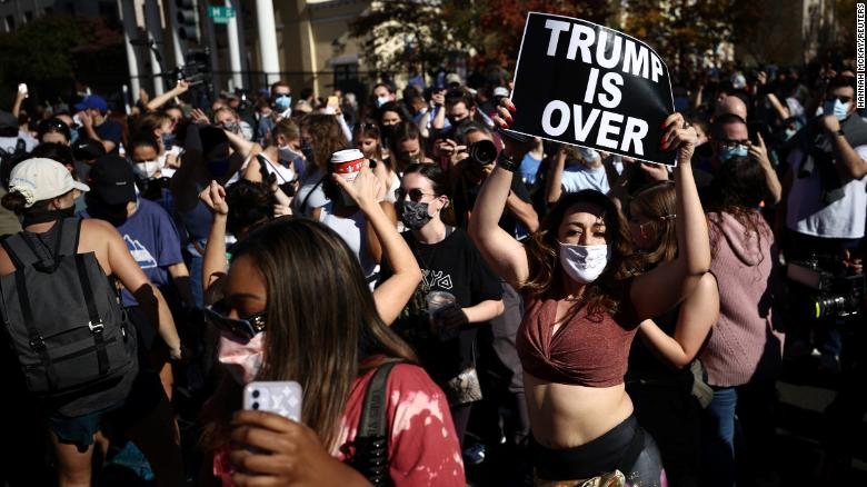 Black Lives Matter Plaza in Washington, DC, on November 7, 2020.