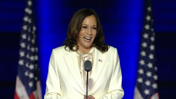 Image for Kamala Harris, as first woman elected VP, says she 'won't be the last'