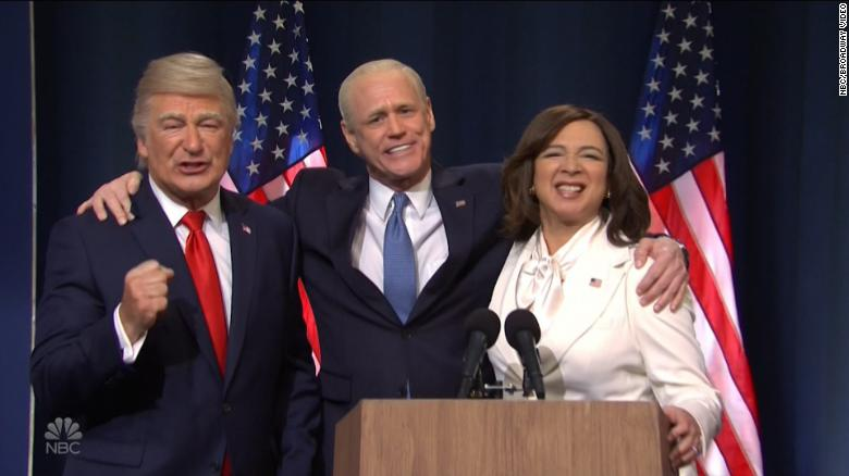 'SNL' shows off Biden and Harris' victory speeches and Trump's 'concession' speech after the election