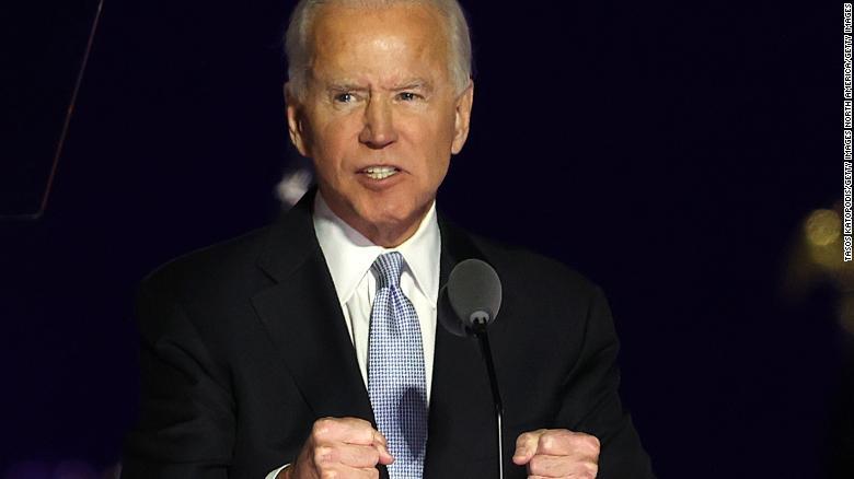 The most important line in Joe Biden's victory speech