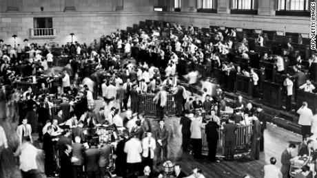 A file photo of the New York Stock Exchange during the crash of 1929.