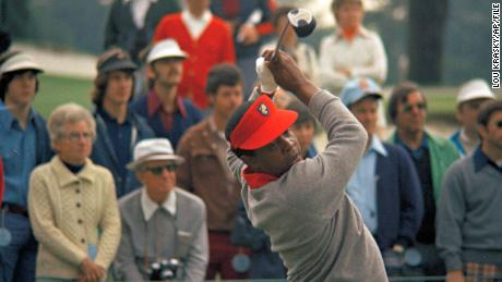 Elder becomes the first Black golfer to participate in the Masters Tournament in 1975.