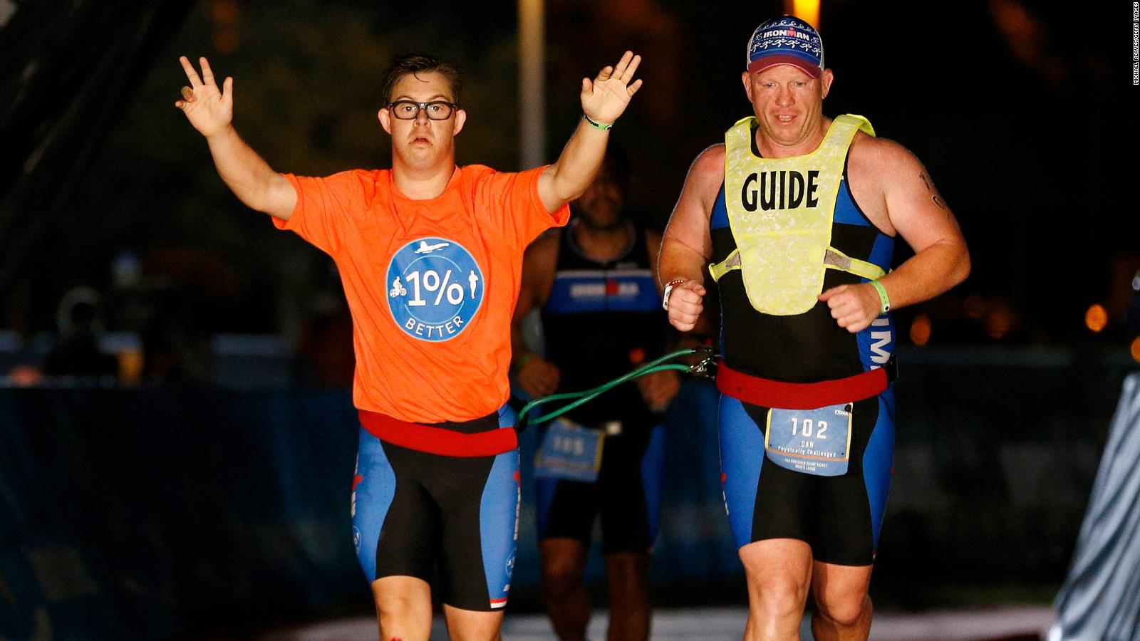 Athlete with Down syndrome makes history in Ironman triathlon - CNN Video