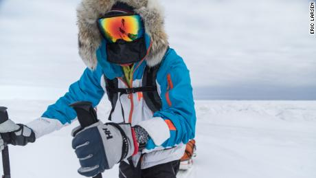 Adventurer Eric Larsen knows how to bundle up to stay warm in cold places.