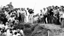 Ballesteros during the 1976 Open Championship.