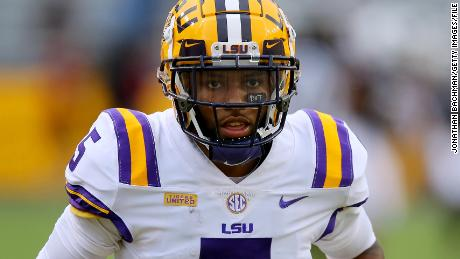 LSU wide receiver  Koy Moore shown during a game against South Carolina on October 24.