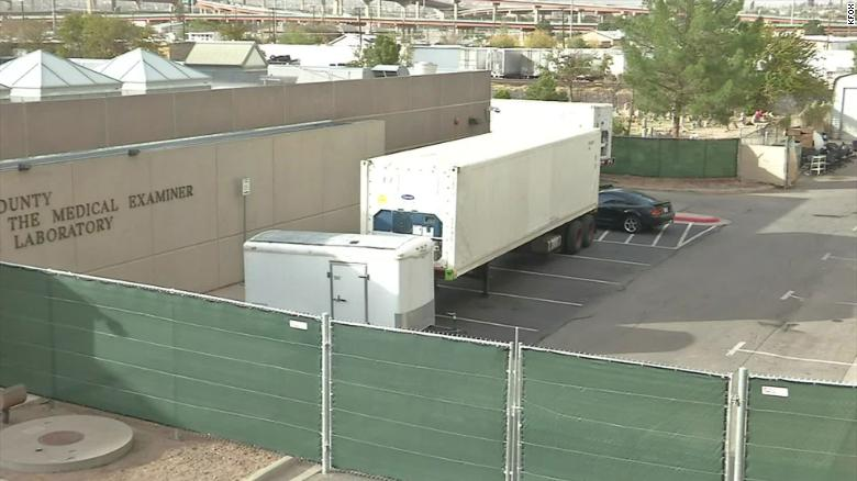 Amid spike in Covid-19 deaths, El Paso, Texas, requests four more trailers in addition to six mobile morgues already on the ground