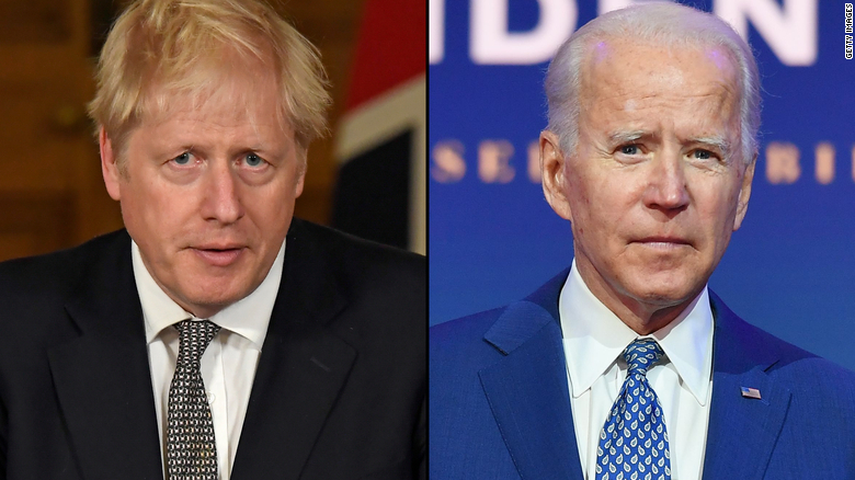 Biden piles pressure on Boris Johnson at Brexit crunch time