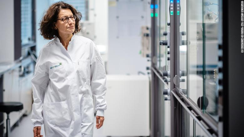 BioNTech's chief medical officer, Ozlem Tureci at the lab in November.