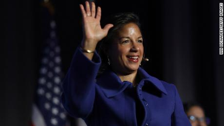 Former national security advisor Susan Rice arrives to speak at the J Street 2018 National Conference on April 16, 2018 in Washington, DC.