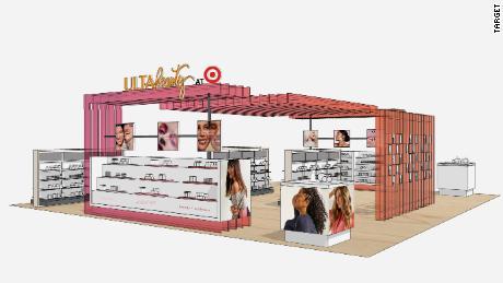 Rendering of Ulta's mini shop in Target stores.