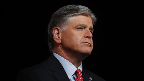 Sean Hannity, host at Fox News, broadcasts from the Republican National Convention at Fort McHenry National Monument and Historic Shrine in Baltimore, Maryland, U.S., on Wednesday, Aug. 26, 2020. Vice President Pence will make the case for a second term for himself and President Trump today capping a night at the Republican National Convention designed to emphasize the military, law enforcement and public displays of patriotism. Photographer: Al Drago/Bloomberg via Getty Images