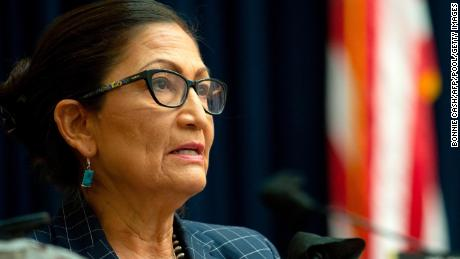 Rep. Debra Haaland, a New Mexico Democrat, speaks during a House Natural Resources Committee hearing on June 29, 2020, in Washington, DC.