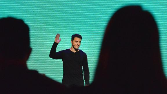 "Airbnb CEO Brian Chesky speaks onstage during ""Introducing Trips"" Reveal at Airbnb Open LA on November 17, 2016 in Los Angeles, California.  (Photo by Charley Gallay/Getty Images for Airbnb)"