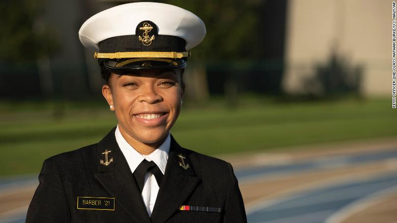 The Naval Academy named its first Black female brigade commander