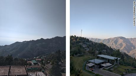 Two landscapes photographed by Pranav Lal in Mussoorie, Uttarakhand state, India in 2020.