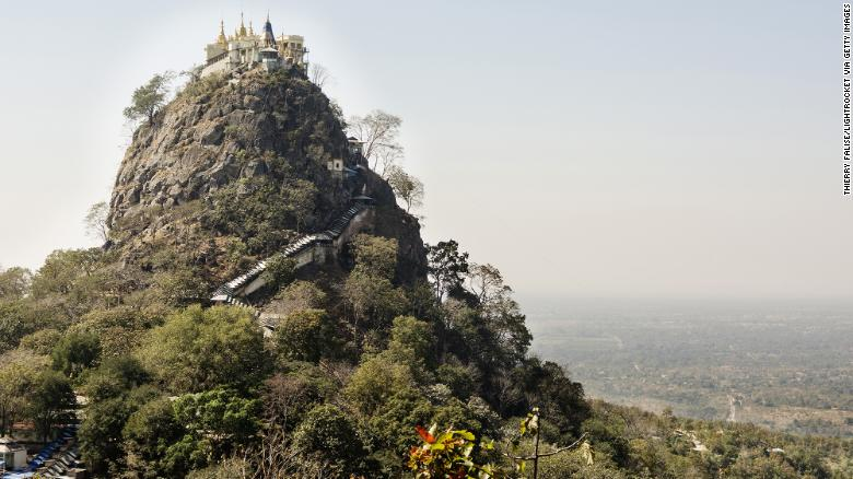 Mount Popa is a sacred pilgriimage site, and home to about 100 Popa langurs.