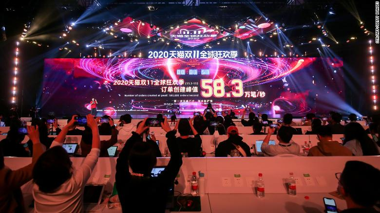 Singles Day Alibaba Sales Blitz Rakes In 75 Billion As Chinese Shake Off Covid 19 Cnn Singles day 2019 occurs on november, 11. chinese government halts ant group s giant ipo