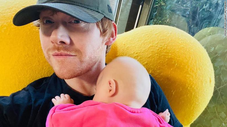 Rupert Grint joined Instagram to intro his new baby