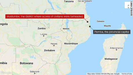 Scores of civilians beheaded by insurgents in Northern Mozambique, witness says