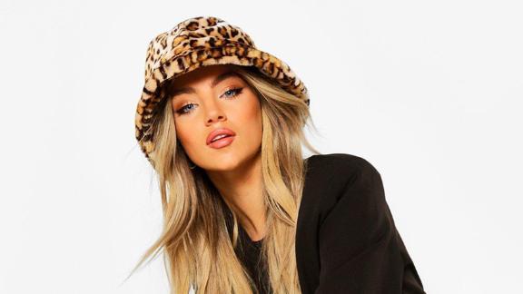 کلاه سطل پلنگی Boohoo Faux Fur