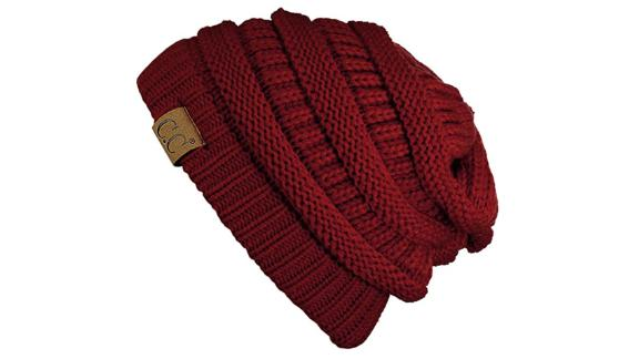 C.C. Chunky Cable-Knit Beanie