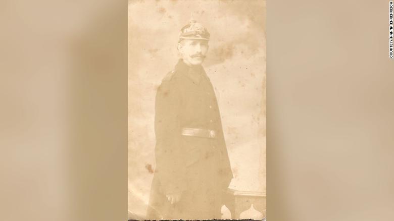 Benjamin Heidelberger nella sua uniforme dell'esercito tedesco della prima guerra mondiale
