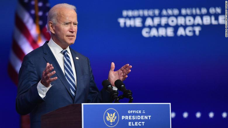 US President-elect Joe Biden delivers remarks at The Queen in Wilmington, Delaware, on November 10, 2020. (Photo by Angela Weiss / AFP)