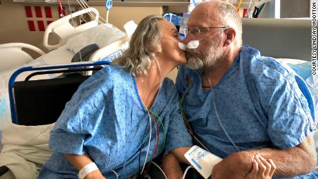 Chad and Tracy Larsen share a date night for their 34th wedding anniversary at a Utah ICU ward, where both were fighting for their lives after contracting Covid-19. It would be their last date together.