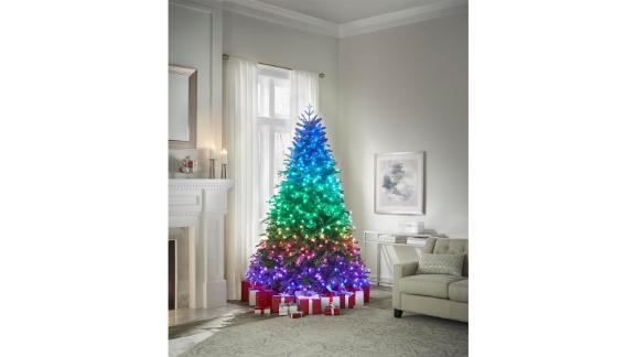 Home Decorators Collection 7.5-Ft Swiss Mountain Black Spruce Twinkly Rainbow Christmas Tree