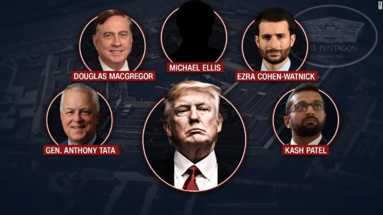 Trump administration removes senior defense officials and installs  loyalists, triggering alarm at Pentagon - CNNPolitics