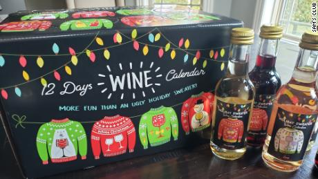 The $ 37.98 Advent's Advent calendar includes Cabernet Sauvignon, Chardonnay and Zinfandel.