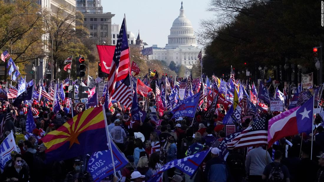 Washington, DC, rally brings together Trump voters and far-right leaders