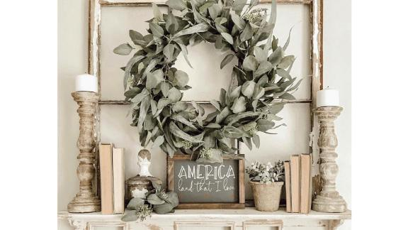Hearth & Hand With Magnolia 24-Inch Faux Seeded Eucalyptus Wreath