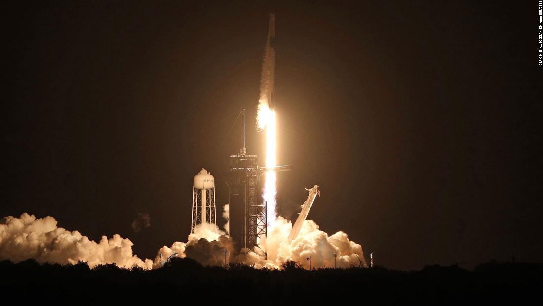 SpaceX-NASA mission: Four astronauts to dock with International Space Station