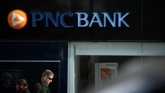 A PNC Bank logo on a branch in Washington, D.C., as seen on November 21, 2019. (Graeme Sloan/Sipa USA)
