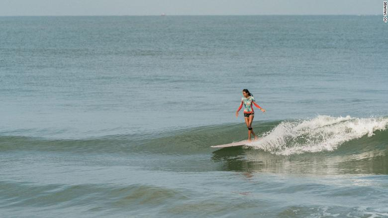Malaviya has been hooked to surfing and its lifestyle ever since she rode her first wave. Pic - CNN