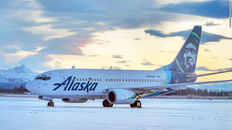 The Boeing 737-700 is being repaired before returning to service, Alaska Airlines said.