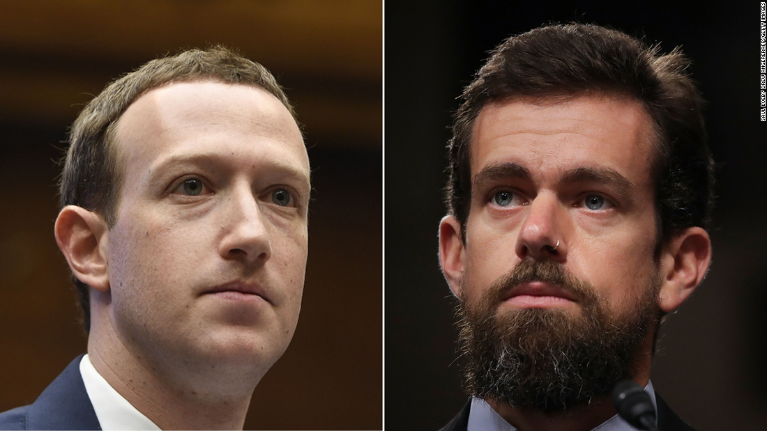 Mark Zuckerberg and Jack Dorsey face Senate grilling over moderation practices