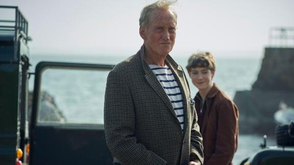The Crown S4. Picture shows: Mountbatten (CHARLES DANCE). Filming Location: Keiss Harbour