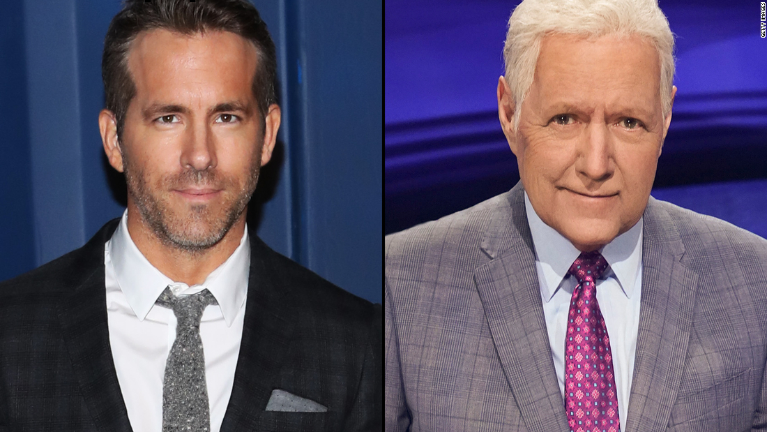"""Ryan Reynolds called the death of his friend Alex Trebek """"gut-wrenching."""""""
