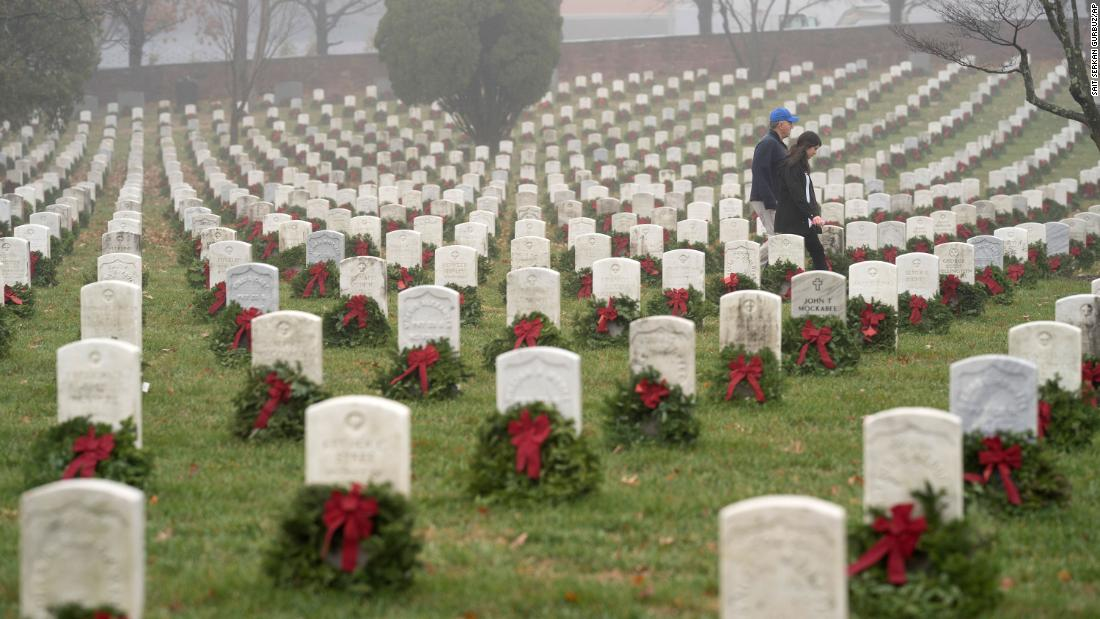 Wreaths Across America told it will not be able to place wreaths at Arlington National Cemetery this year