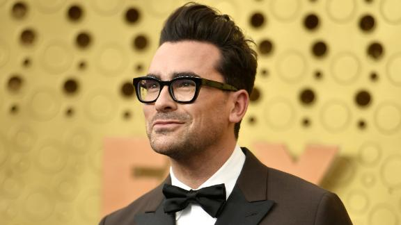 Dan Levy arrives at the 71st Primetime Emmy Awards on Sunday, Sept. 22, 2019, at the Microsoft Theater in Los Angeles.