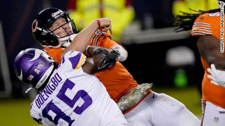 Foles had been looking for a game-winning pass with 40 seconds to go but was sacked by Vikings defensive end Ifeadi Odenigbo.