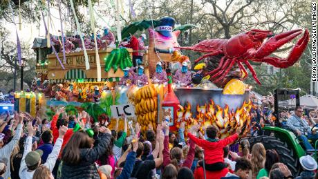 The Krewe of Bacchus parade takes place on February 23, 2020, in New Orleans. The city's mayor announced Tuesday that parades would not be permitted at Mardi Gras in 2021.